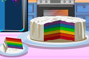 美味六色蛋糕